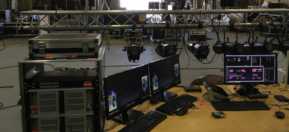 Control desk setup
