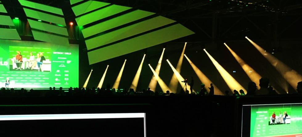 HR Tech World 2017 Stage green