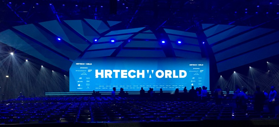 HR Tech World 2017 Stage blue