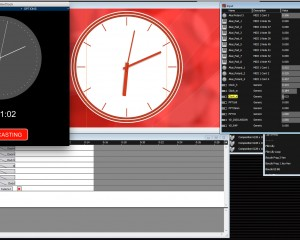 Clock Controller app interface and Watchout